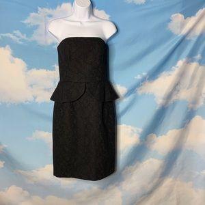 White House Black Market- Black Strapless Dress 2